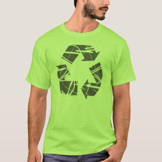 Gris rompu réutilisant le signe t-shirt
