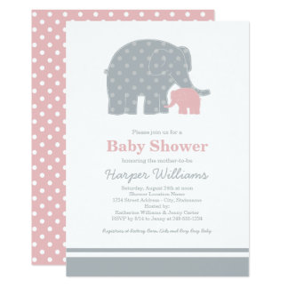 Gris rose-clair des invitations | de baby shower