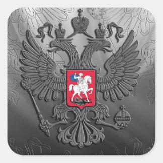 Gris russe de drapeau de symbole sticker carré