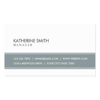 Gris simple simple professionnel et blanc élégants carte de visite standard