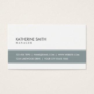 Gris simple simple professionnel et blanc élégants cartes de visite