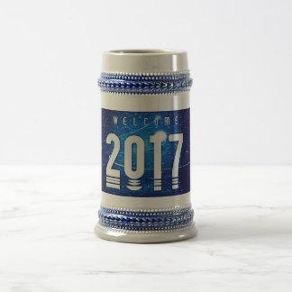 Gris spécial de nouvelle année/bleu 22 once Stein Chope À Bière