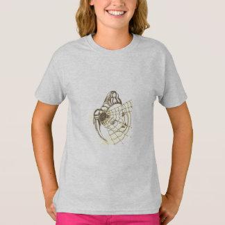 gris tagless de T-shirt de filles