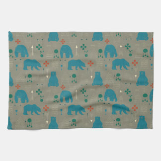 gris tribal d'ours serviettes éponge