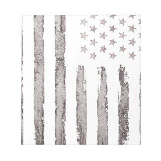 Gris vintage de drapeau américain bloc-note