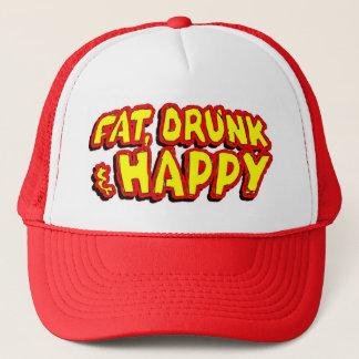 Gros, bu et heureux casquette