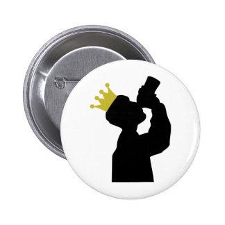 gros buveur avec l icône de couronne badges avec agrafe