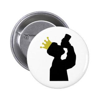 gros buveur avec l'icône de couronne badge rond 5 cm
