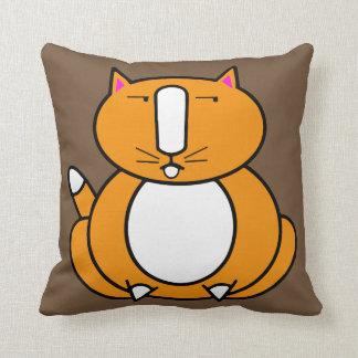 Gros carreau orange de chat de gingembre coussins carrés