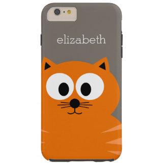Gros chat orange mignon avec le Taupe personnalisé Coque iPhone 6 Plus Tough