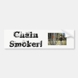 Gros fumeur ! Autocollant de dg