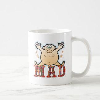 Gros homme fou mug blanc