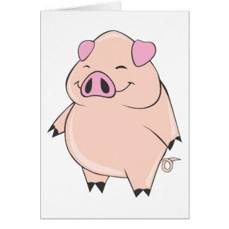Gros porc mignon cartes