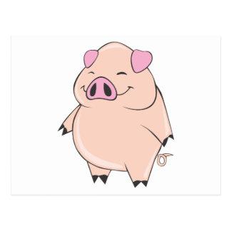 Gros porc mignon cartes postales