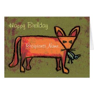 Grosse carte d'art personnalisée par Fox de joyeux