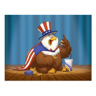 Grosse carte postale d'Eagle d'Américain