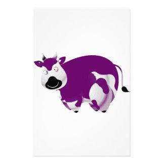 Grosse vache pourpre simple papier à lettre customisable