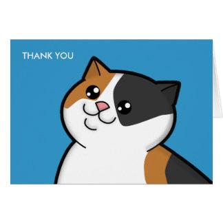 Grosses cartes de note heureuses de Merci de chat