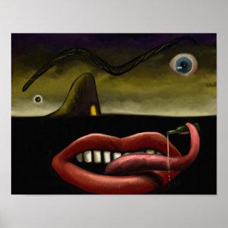 Grotesque - affiche surréaliste 11x14 de peinture  posters