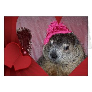 Groundhog, carte de Saint-Valentin de Clara