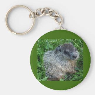 Groundhog/porte - clé de marmotte d'Amérique Porte-clé Rond