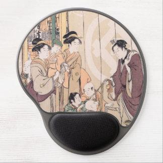 Groupe avant l ukiyo-e de magasin de Sec-marchandi Tapis De Souris En Gel