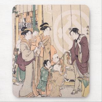 Groupe avant l'ukiyo-e de magasin de Sec-marchandi Tapis De Souris
