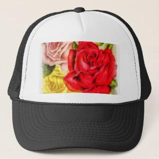 Groupe d'aquarelle de roses casquette