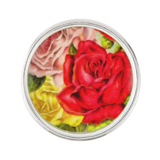 Groupe d'aquarelle de roses pin's