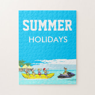 Groupe de bateau de banane de vacances d'été puzzle