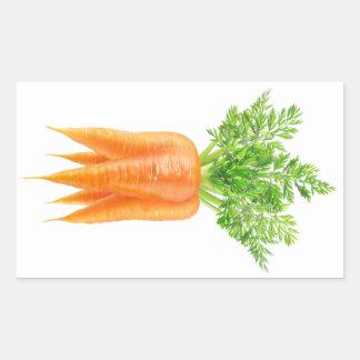 Groupe de carottes sticker rectangulaire