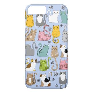 Groupe de cas plus mignon et d'amusement de chats coque iPhone 7 plus
