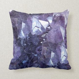 Groupe de cristal d'améthyste coussins carrés