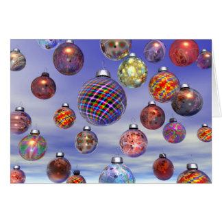 Groupe de décoration de Noël Carte De Vœux