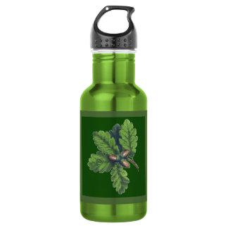 Groupe de feuille de chêne bouteille d'eau de 18