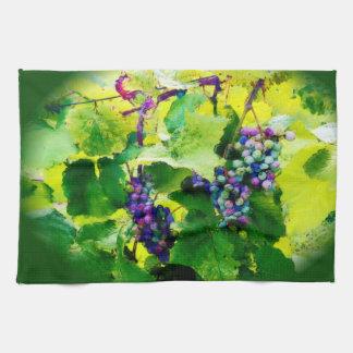 groupe de la serviette de cuisine de raisins serviette éponge