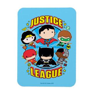Groupe de ligue de justice de Chibi Magnet Flexible