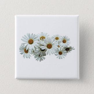 Groupe de marguerites blanches badges