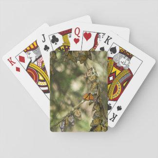 Groupe de monarque Butterfies, Mexique Jeux De Cartes