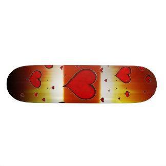 Groupe de planche à roulettes de coeurs skateboards personnalisés