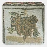 Groupe de raisins blancs, mosaïque romaine sticker carré