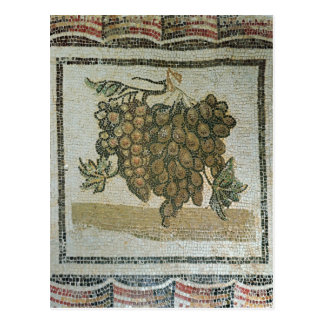 Groupe de raisins blancs, mosaïque romaine carte postale