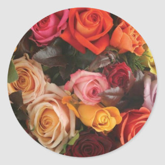 Groupe de roses sticker rond