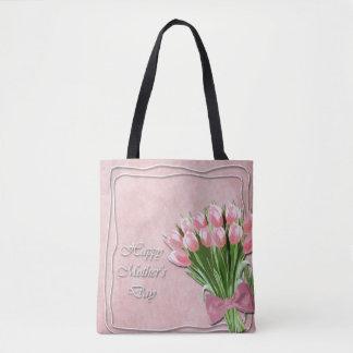 Groupe de sac fourre-tout rose au jour de mère de