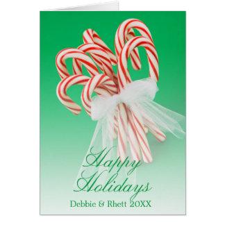 Groupe de sucres de canne carte de vœux