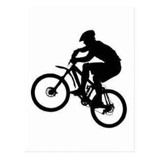 Groupe de terrain communal de vélo carte postale