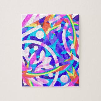 Groupe de variation de violette de couleur puzzle
