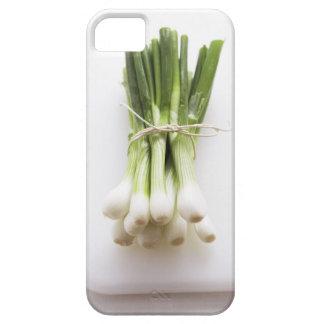Groupe d'oignons de ressort sur le hachoir blanc coque iPhone 5