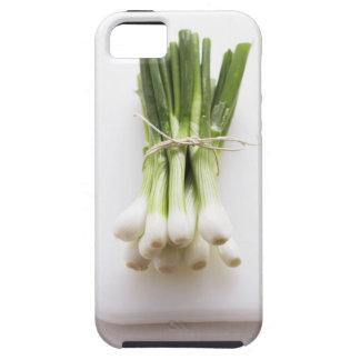Groupe d'oignons de ressort sur le hachoir blanc coques iPhone 5