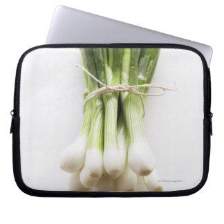 Groupe d'oignons de ressort sur le hachoir blanc trousses pour ordinateur portable
